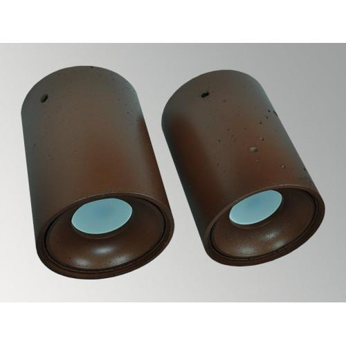 Накладной бетонный светильник Спот Коричневый