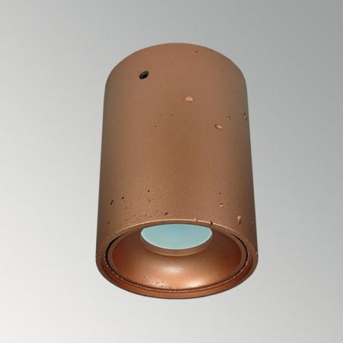 Накладной бетонный светильник Спот Медь