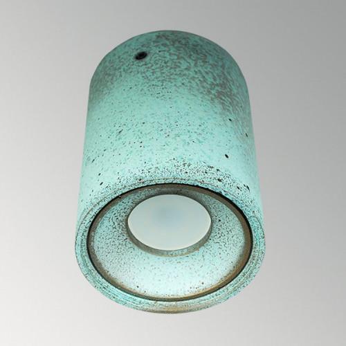 Накладной бетонный светильник Спот Оксид Меди