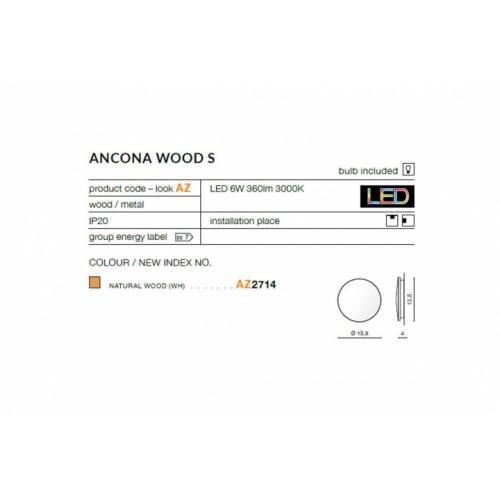 Бра AZzardo ANCONA WOOD S AZ2714