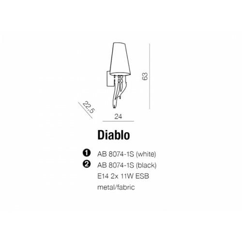 Бра AZzardo DIABLO AZ1343 (AB80741SBKCH )