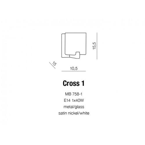 Бра AZzardo CROSS 1 AZ0084 (MB7581SNWH )