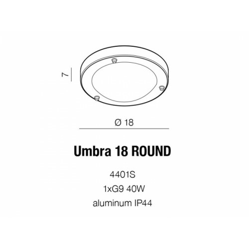 Бра AZzardo UMBRA 18 AZ1596 (4401S )