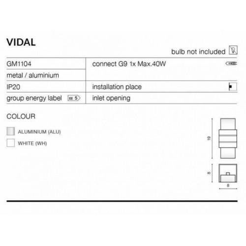 Бра AZzardo VIDAL AZ0863 (GW608WH)
