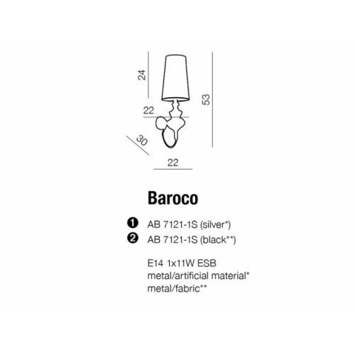 Бра AZzardo BAROCO AZ0308 (AB71211SSL)