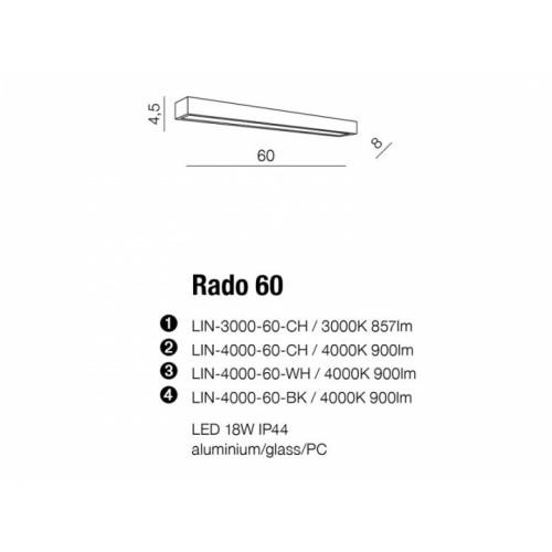 Бра AZzardo RADO 60 AZ2082 (LIN400060WH )