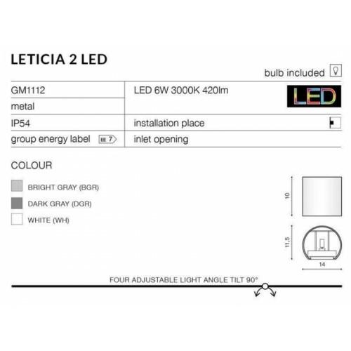 Бра AZzardo LETICIA 2 LED AZ2189