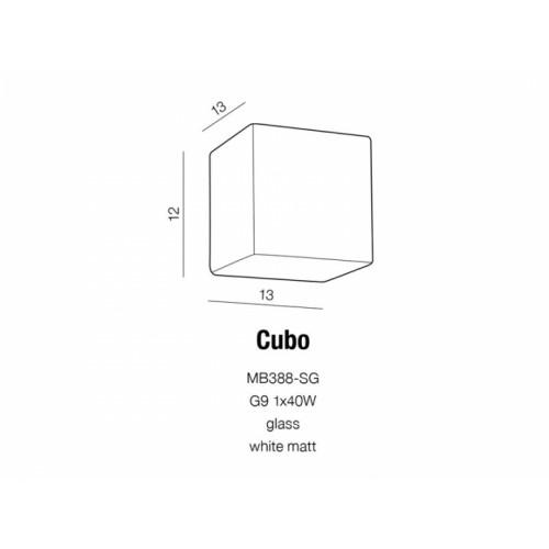 Бра AZzardo CUBO AZ1514 (MB388SGWH )