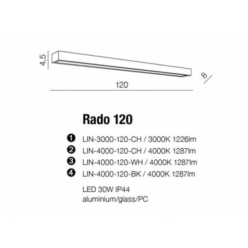 Бра AZzardo RADO 120 AZ2078 (LIN3000120CH )