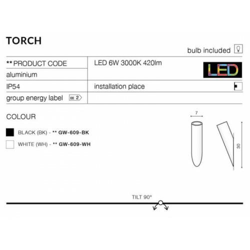 Бра AZzardo TORCH AZ2206 (GW609BK)