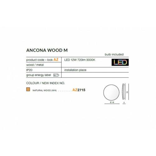 Бра AZzardo ANCONA WOOD M AZ2715