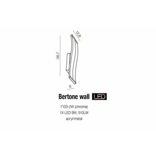 Бра AZzardo BERTONE AZ1291 (71032WCH)
