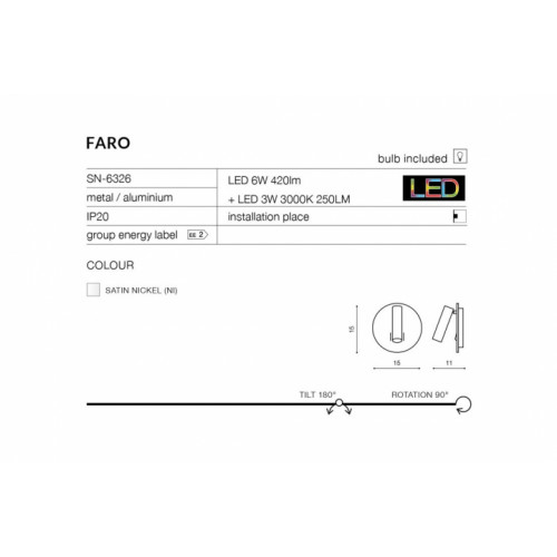 Бра AZzardo FARO AZ2424 (SN6326CH)