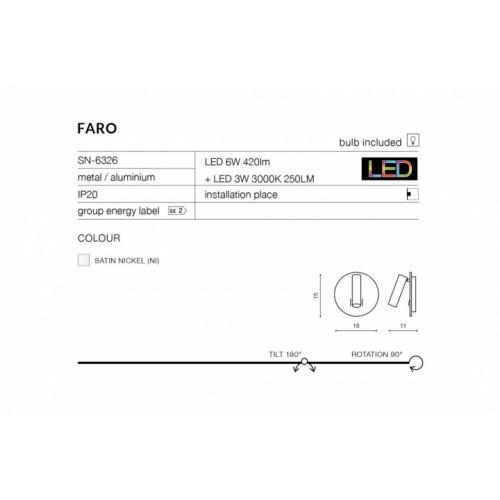 Бра AZzardo FARO AZ2552 (SN6409SN)