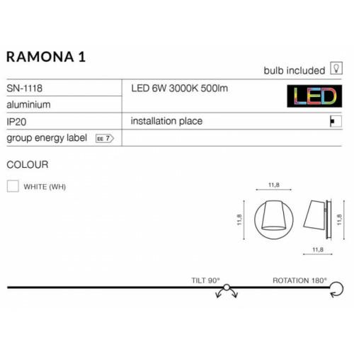 Бра AZzardo RAMONA 1 SWITCH AZ2566
