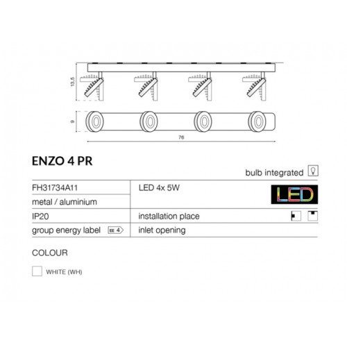Бра Azzardo Enzo 4pr Az0672