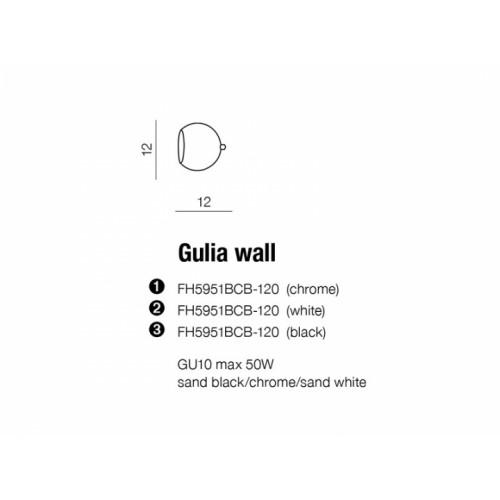 Бра AZzardo GULIA AZ1234 (FH5951BCB1201WH )
