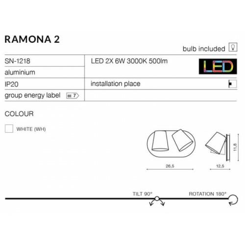 Бра AZzardo RAMONA 2 SWITCH AZ2564