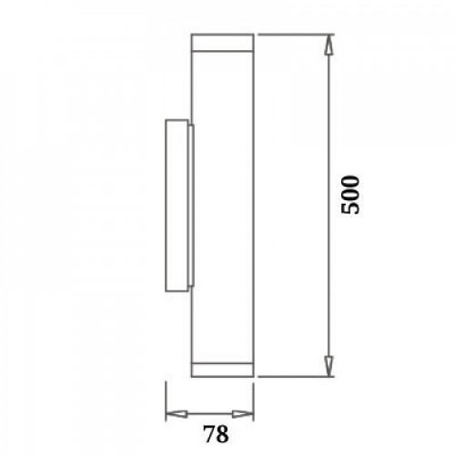 Точечный настенный светильник 2х5W 4500К WL-015363