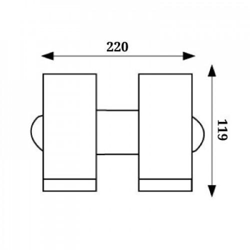 Точечный настенный светильник 2х5W 4000К WL-015356