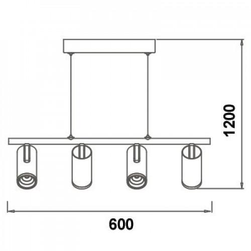 LED люстра с пультом 4х5W 3000К WL-015390