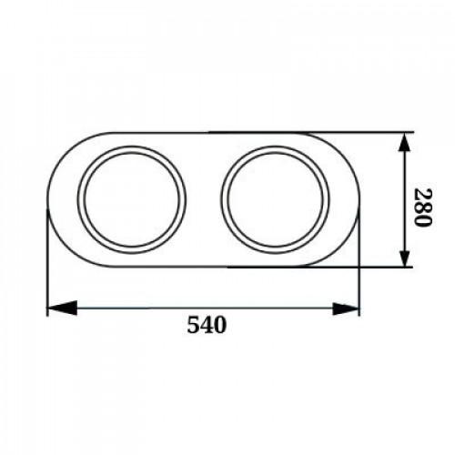 LED люстра с пультом 4000К WL-015353