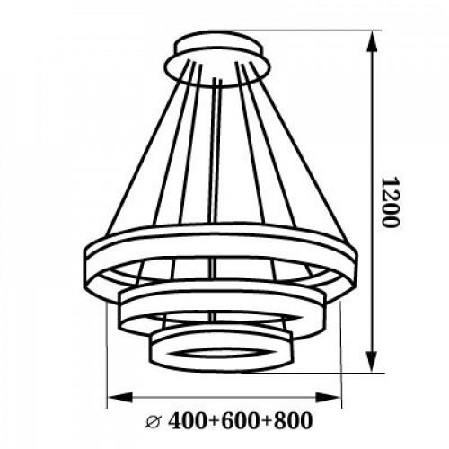 LED люстра с пультом 90W 4500К WL-015368