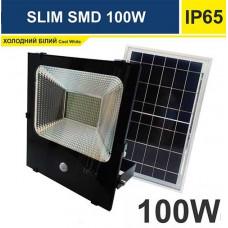 Прожектор светодиодный 100W SMD на солнечной батарее с пультом