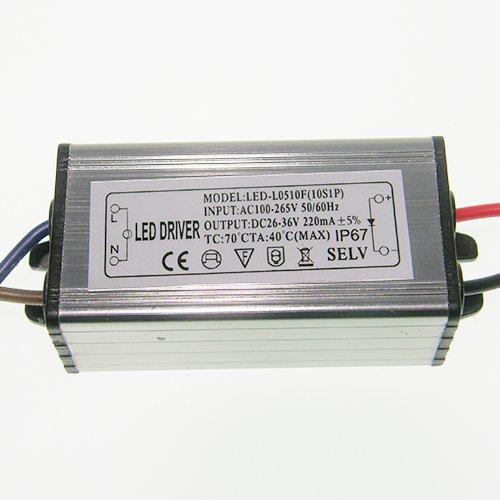 Блок (драйвер) для светодиодного прожектора 10Вт 300мА, IP65