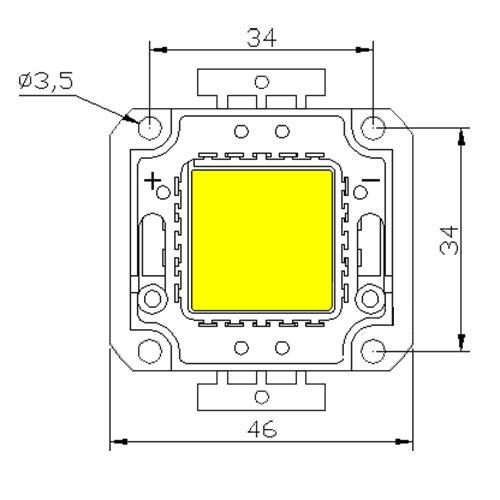 Светодиодная матрица LED 30Вт 6500К 2720Лм