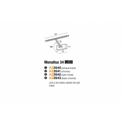Бра AZzardo MONALISA 34 AZ2640