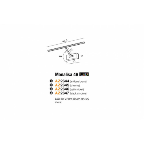 Бра AZzardo MONALISA 46 AZ2647