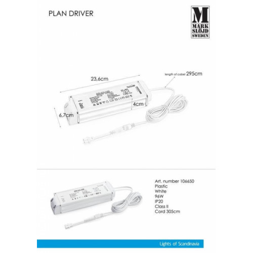 Блок живлення Markslojd PLAN DRIVER 96W 106650