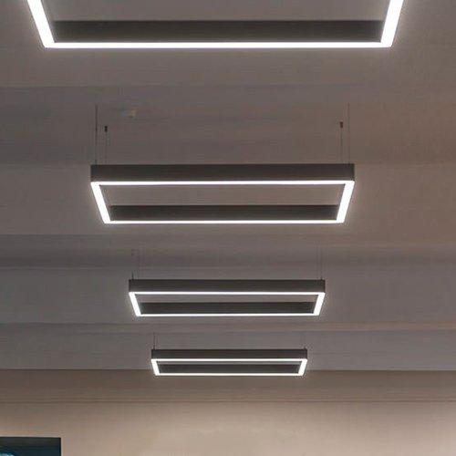 Светодиодный светильник в алюминиевом профиле Prima Tech Kube Standart 1000х500