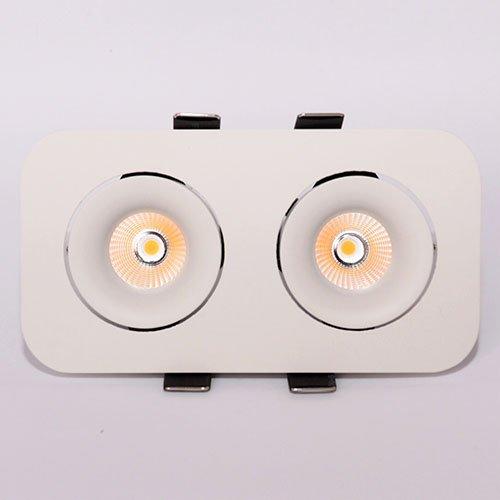 Точечный светодиодный светильник врезной Prima Luce 464 2x7W