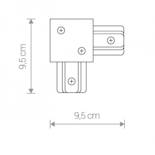 L-Конектор Nowodvorski PROFILE RECESSED L-CONNECTOR 8970