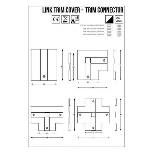 L-Конектор лівий Ideal Lux LINK TRIM ON/OFF 188126