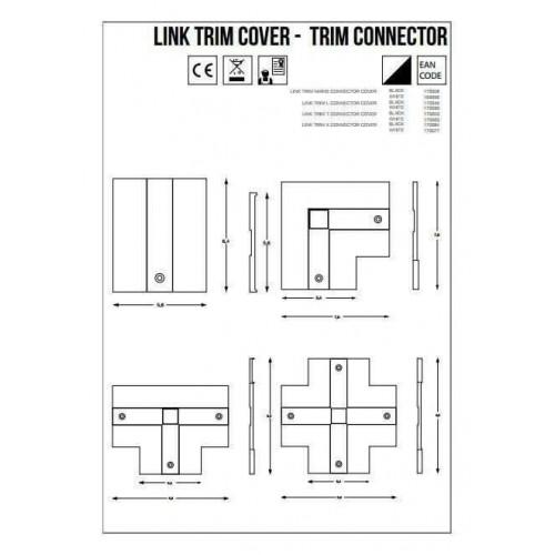 L-Конектор правий Ideal Lux LINK TRIM ON/OFF L-CONNECTOR 188102