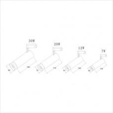 Светодиодный трековый светильник Prima Luce AR-105-Z 24W