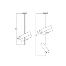 Светодиодный трековый светильник Prima Luce AR-077 2xGU10